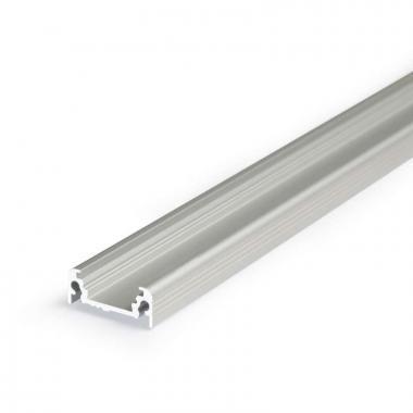 Led profil sín, SURFACE 10, ELOXÁLT alumínium, 2m /szál